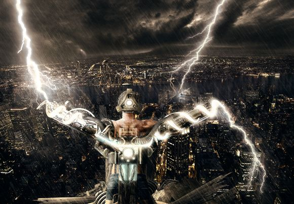 lighting strike absorbed and transfered to another location manipulation