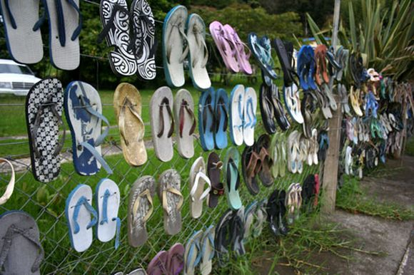 unusual slippers fence