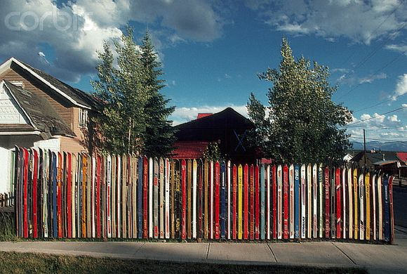 almost rainbow ski fence