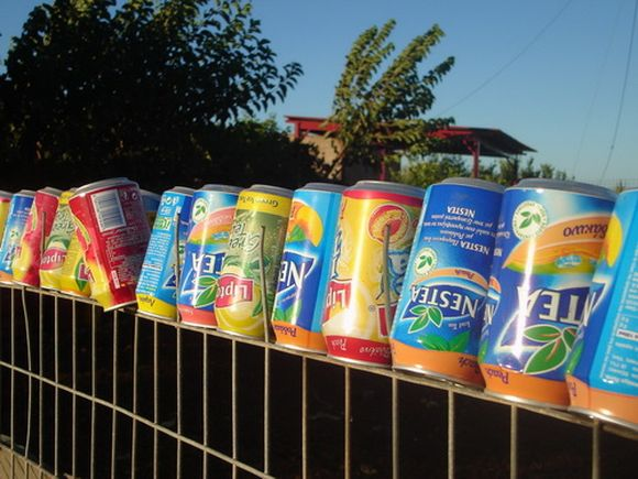 fence with nestea ice tea