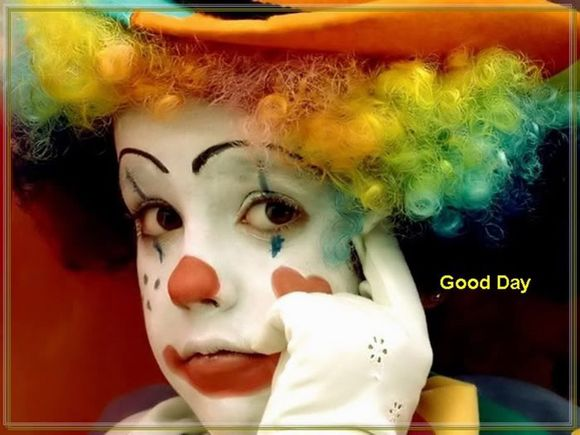 clown kid starring and message Good day