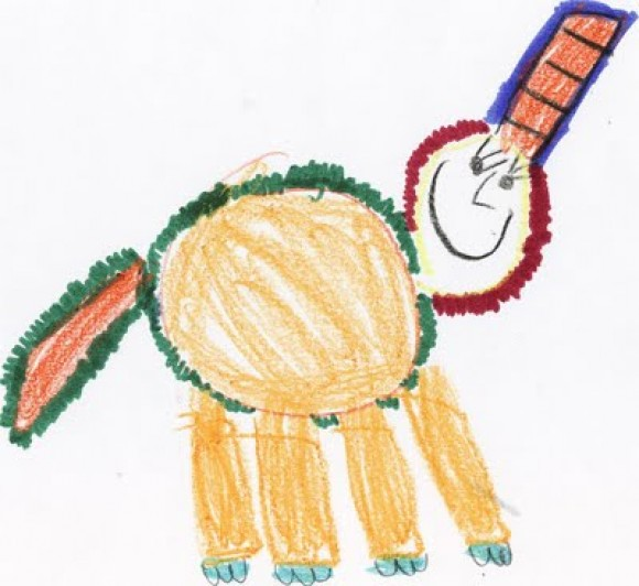 unicorn drawn by kid