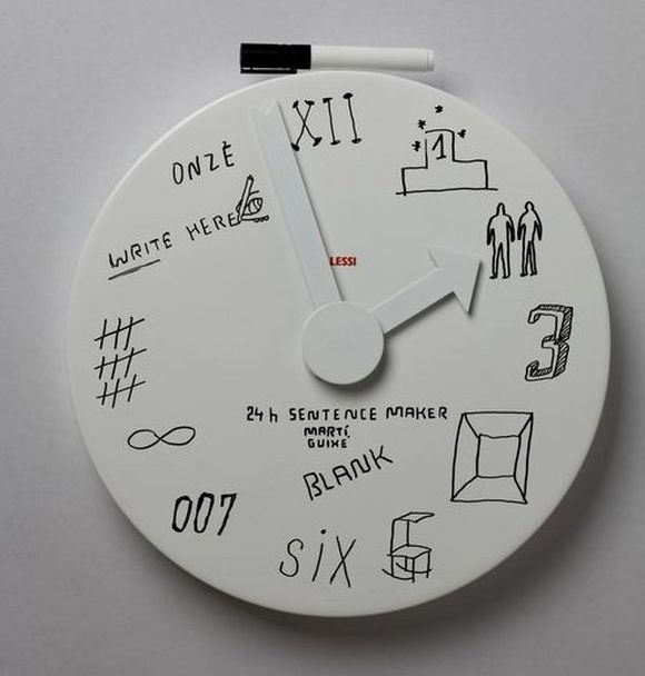 24h sentence maker wall clock