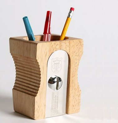 pencil sharpener as pencil holder