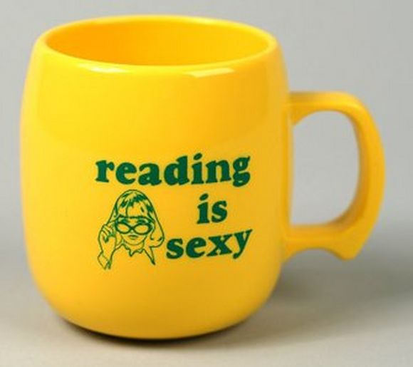 Reading is sexy yellow mug