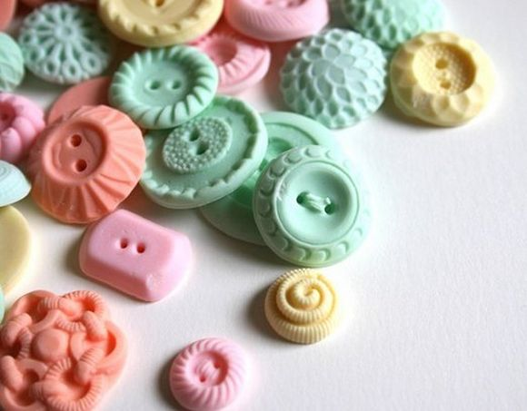 Pepermint candy that look like buttons