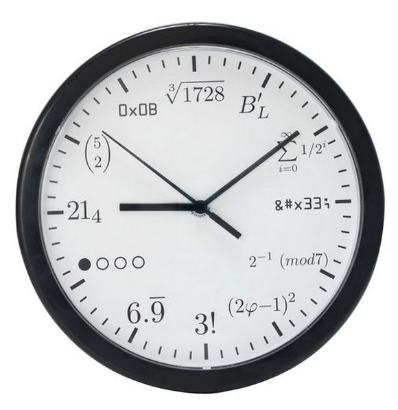 wall clock for those loving matematic and science
