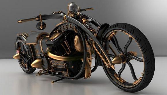 cool looking steampunk bike