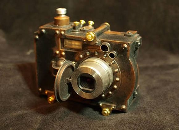 bolts and gear infused fictional photo camera