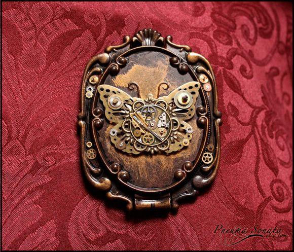 metal butterfly inside metal frame