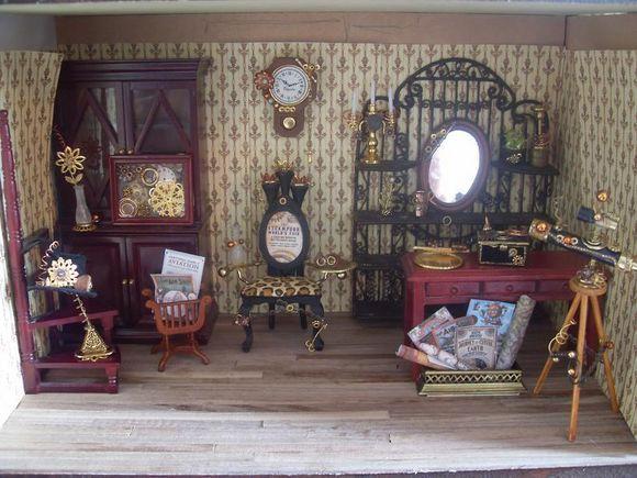 victorian era stempunk style room