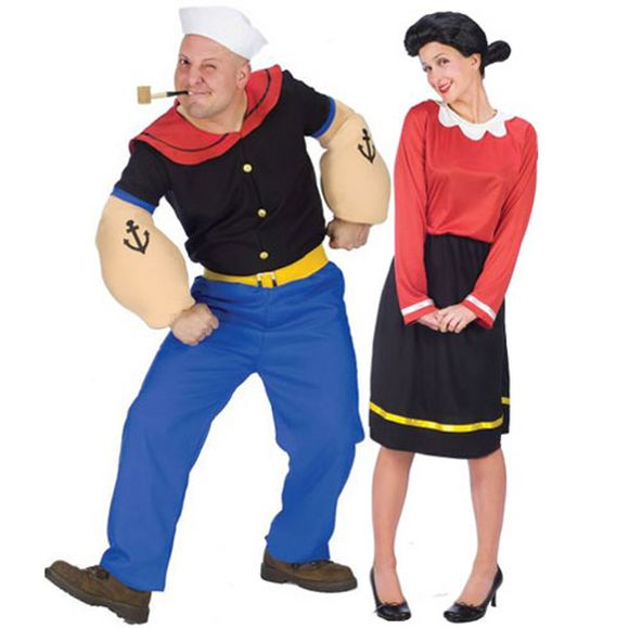 popeye the sailor man and olive costume for halloween