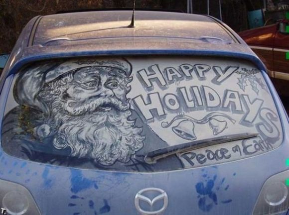 Masterpieces Created On Dirty Cars