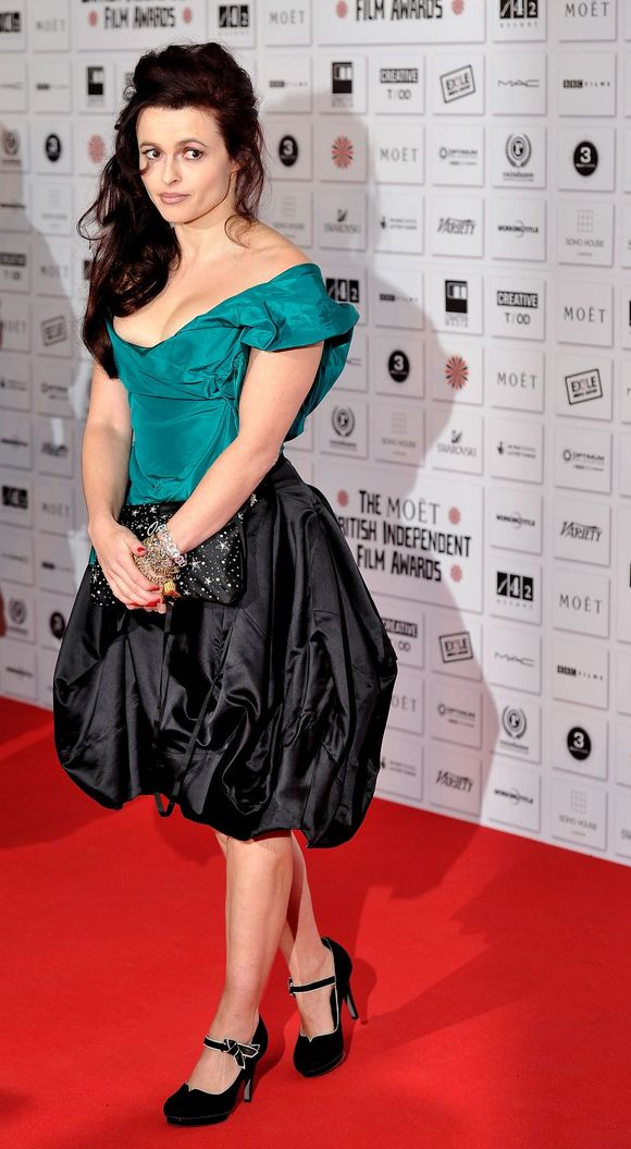 Helena Bonham Carter posing at british independent film rewards
