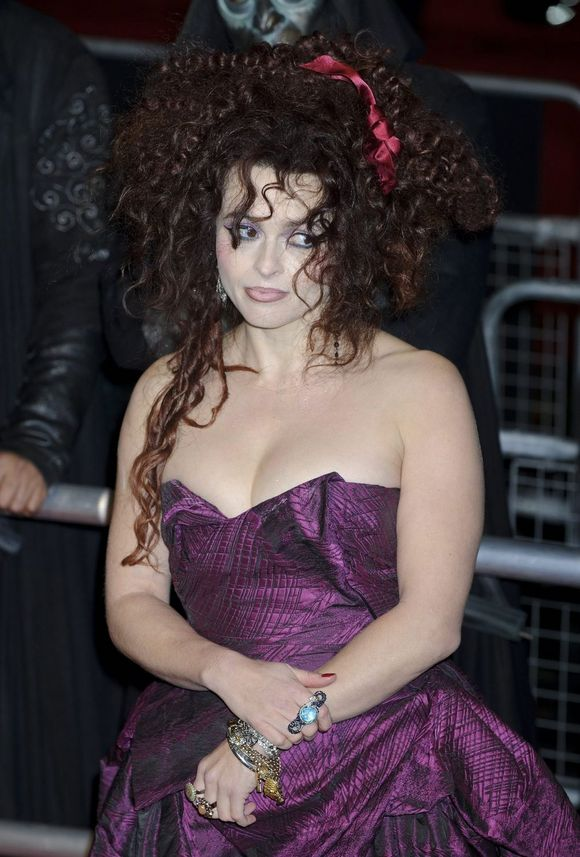 Helena Bonham Carter messy hair
