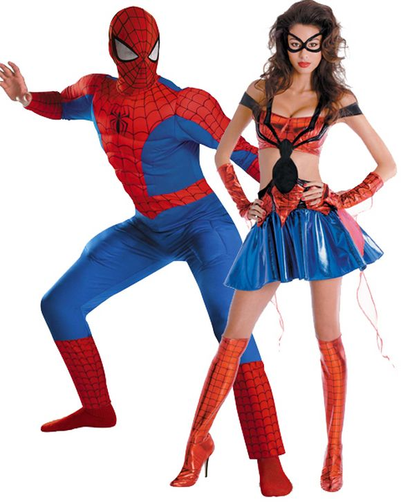 spider man and spider woman halloween costume