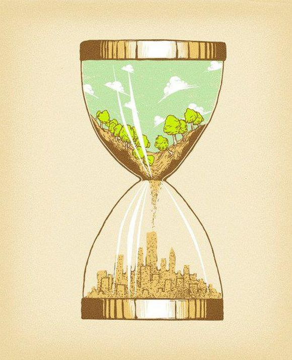 hourglass earth