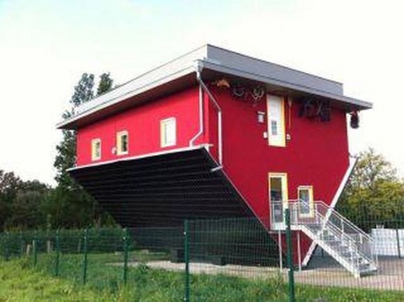 house upside down