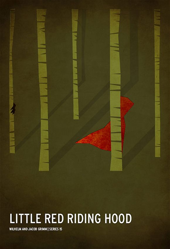 litle red riding hood minimalist poster
