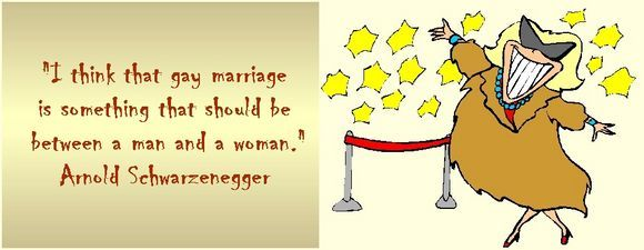 I think that gay marriage is something that should be between a man and a woman