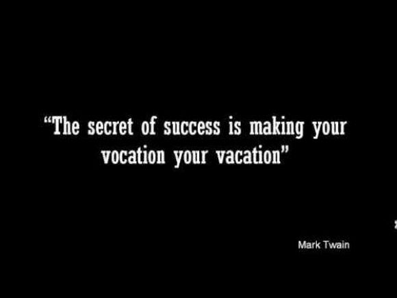 the secret of success is making your vacation your vacation