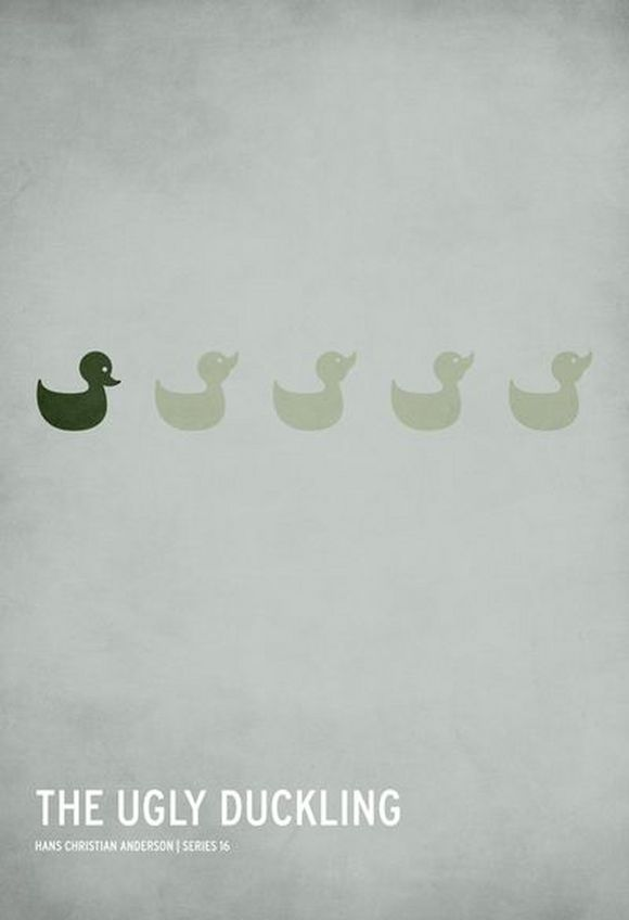 the uglu duckling minimalist poster