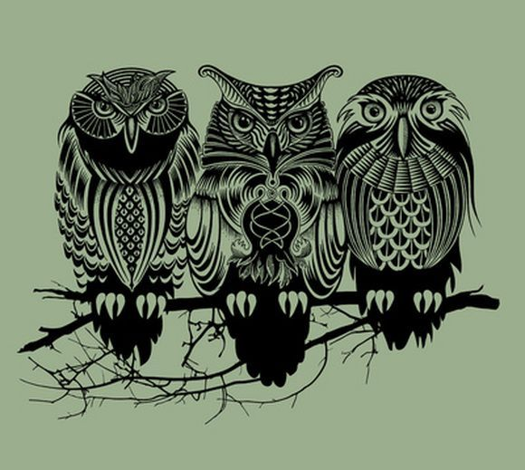 Interesting owl art prints for Cool drawings of owls