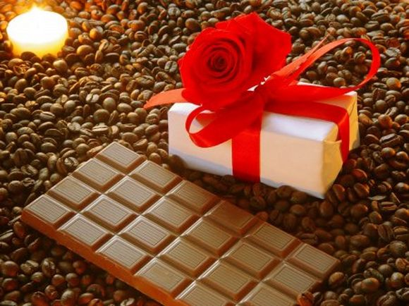 Chocolate bar and gift box