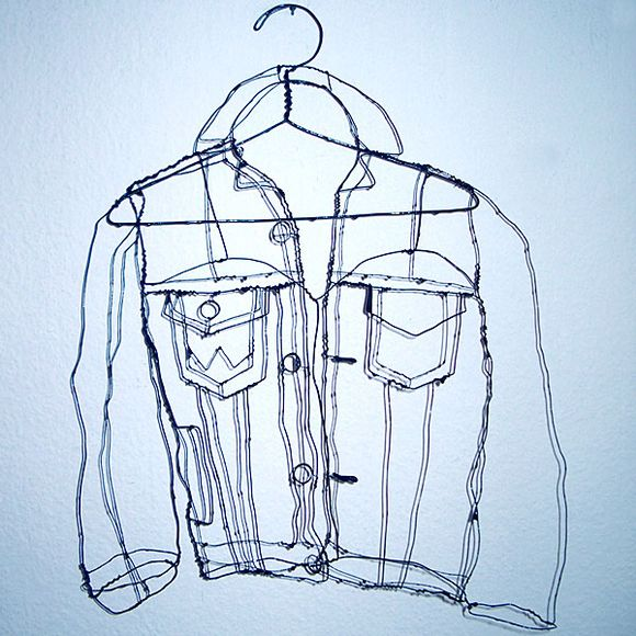 drawn with wire