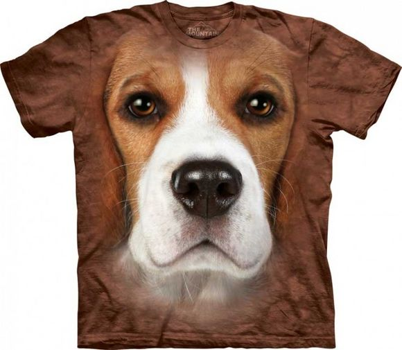 ADULT T SHIRT BULLDOG FACE