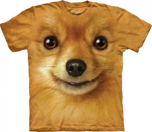 3d dog face t