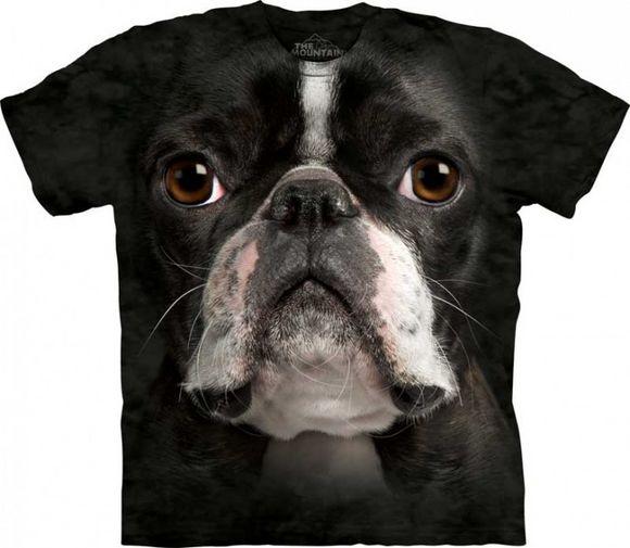 31b656bf2 Boston Terrier Face The Mountain Tee Shirt Adult S-XXXL