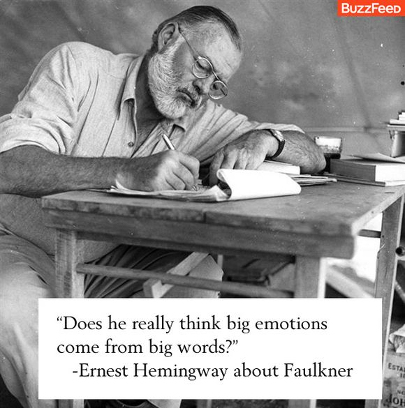 Does he really think big emotions come from big words