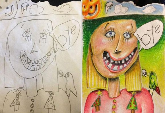 Coloring My Kids' Art by Tatsputin