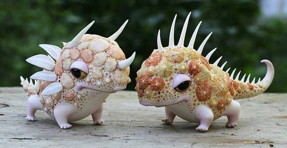 Gorgeous porcelain creatures by Ukrainian artist duo