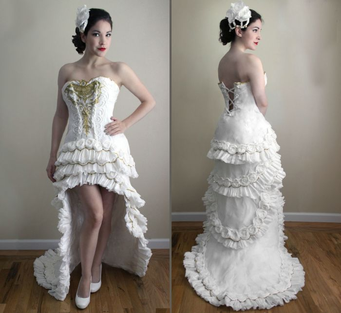 wedding dress made of toilet paper3