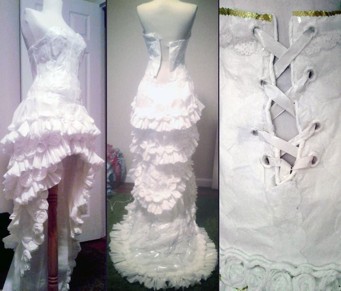 wedding dress made of toilet paper5