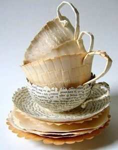 Paper cups by Cecilia Levy