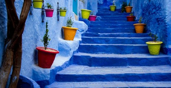 Chefchaouen, little town painted in blue