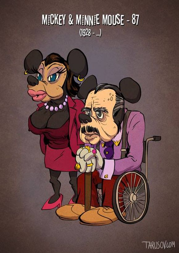 famous cartoon characters in their old age
