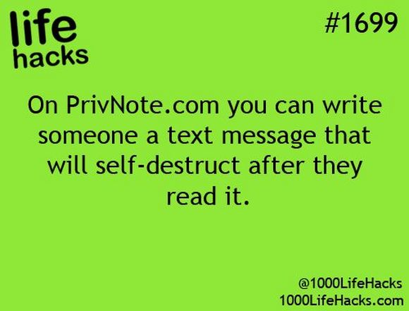 write someone self-destruct message