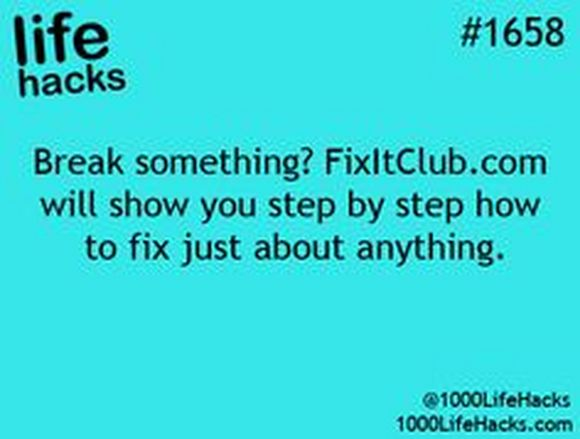 how to fix things
