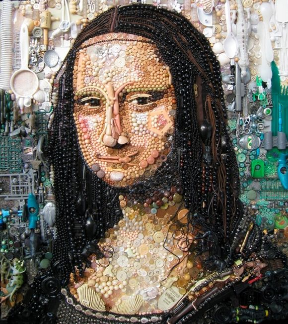 La Gioconda or Mona Lisa junk art