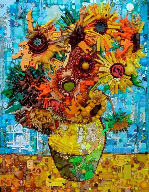 Sunflowers or Tournesols by Van Gogh junk art