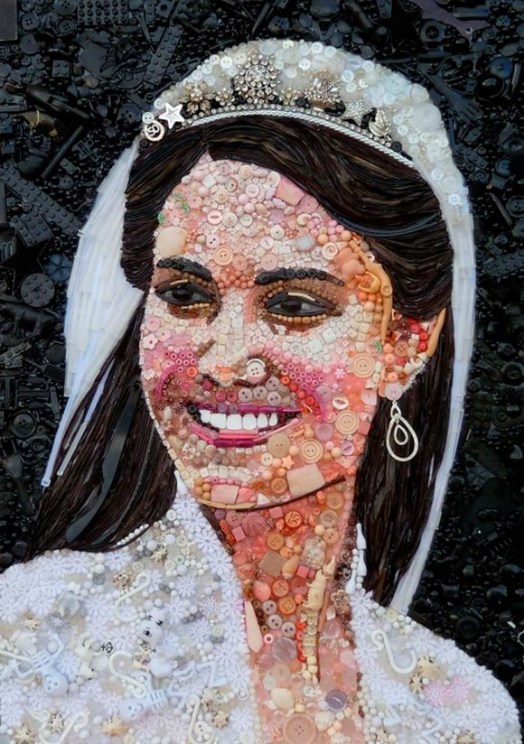 Catherine, Duchess of Cambridge, Kate Middleton portrait junk art