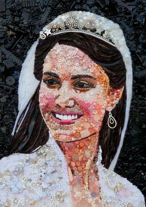 Catherine, Duchess of Cambridge, Kate Middleton portrait junk art