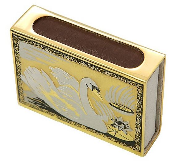 Matchboxes holders, swan