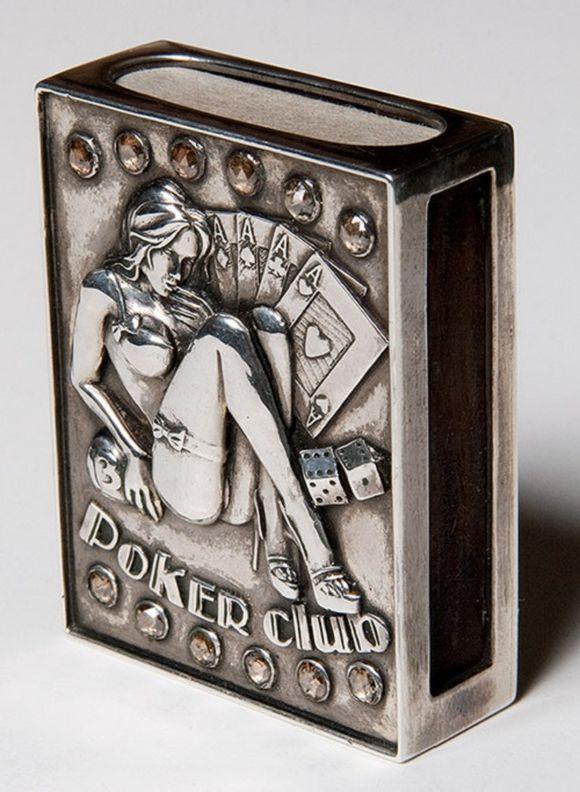 vintage matchbox holder