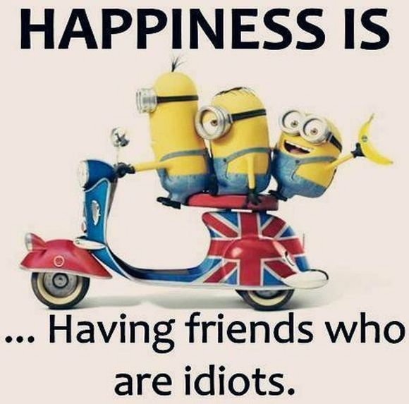 happiness with friends idiots