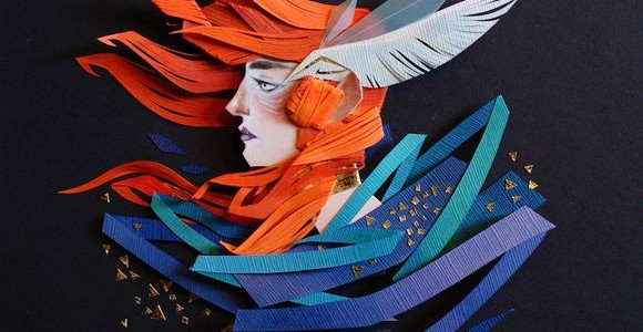 Cut paper collages by Morgana Wallace